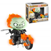 Funko Pop Marvel Classic GID Ghost Rider with Bike PX